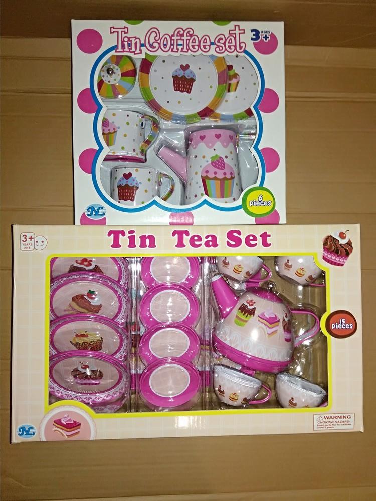 Распродажа - жестяной чайный сервиз кексик ( 15 предметов ) от tin tea se посудка детская фото №1