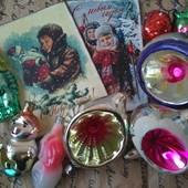 Новогодние и рождественские открытки в ретро-стиле с конвертами