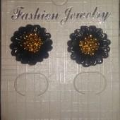 Серьги-гвоздики керамика цветок