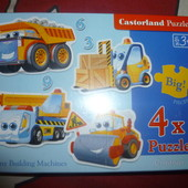 Пазлы Castorland (Касторленд) 4в1 Транспорт