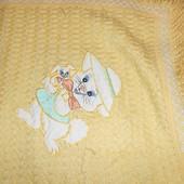 Б/у детский плед одеяло вязанный