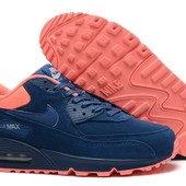 Кроссовки Nike Air Max 90 blue-pink, р. 36-40, код fr-21555