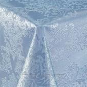 Скатерть-клеёнка Шелкография без основы Голубые облака с рисунком очень красивая!101-3
