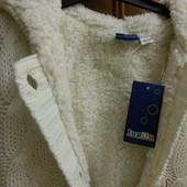 Плетеный свитер для девочек Lupilu.
