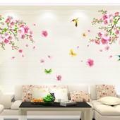 """Интерьерная наклейка """"Сакура весной"""". Виниловые наклейки на стену. Декор интерьера"""