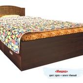 Гарантия 2 года! Кровать Мишка №4, 2 ящика, 120x190 см, укр. производство