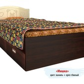 Гарантия 2 года! Кровать Мишка №5, 2 ящика, 90x190 см, укр. производство