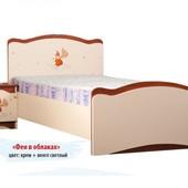 Кровать «Феи в облака» без ящ., 70х140см, витражи,кр. Swarovski, гарантия 2 года, укр. производство