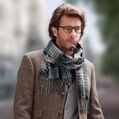 Стильный теплый мужской шарф TCM Tchibo, Германия