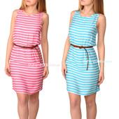 Sale Летние, натуральные платья в полоску Incity. Розовое и голубое.