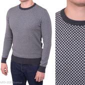 Мужские пуловеры, шахматных расцветок. Италия. Гранат, синий, графитовый.