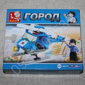 Конструктор полиция, вертолет 85дет