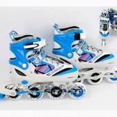 Ролики 39-42р. голубые колеса pu 7,2см, алюм. рама, подшипник Abec-7.aртикул: ST 9005 / 466