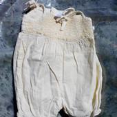 Комбинезон-шорты на 3-6мес.