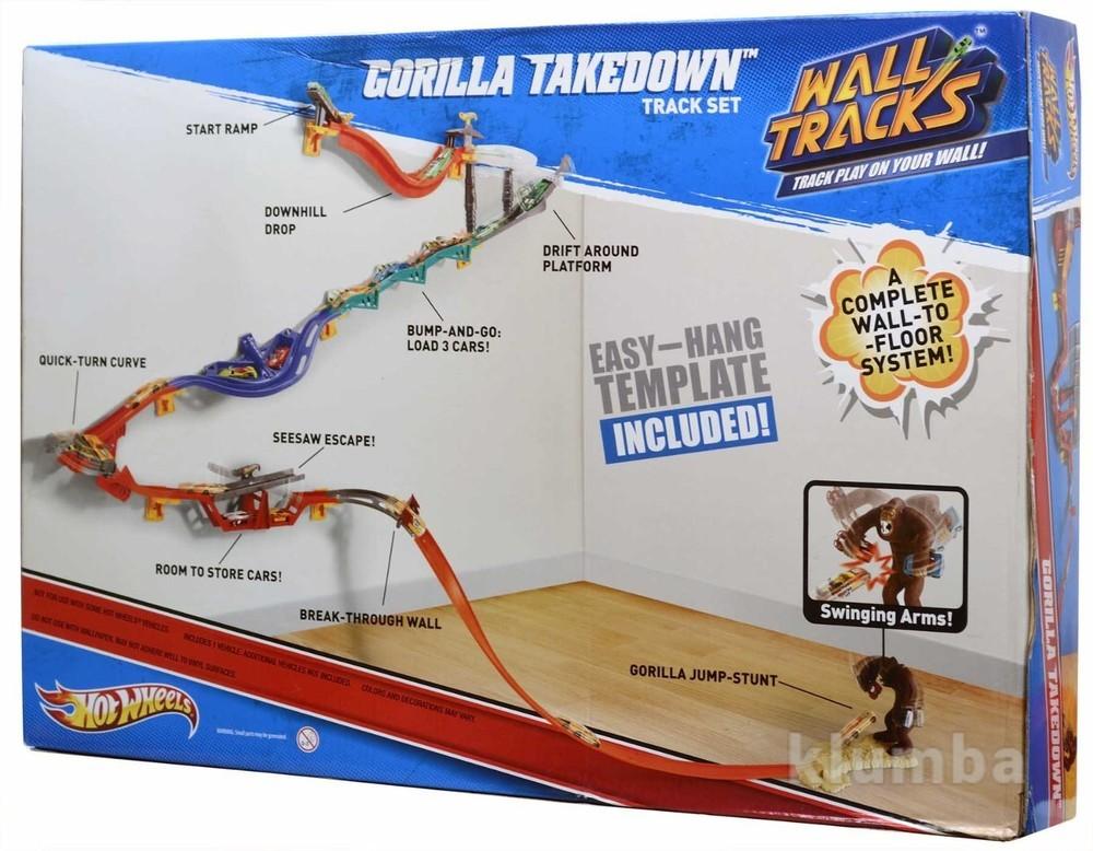 dced95c918755 Мегакрутой настенный трек горилла hot wheels wall tracks - gorilla takedown  фото №1