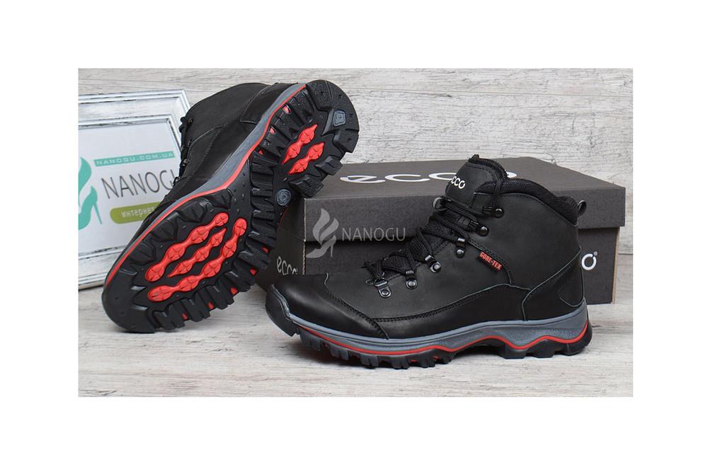 Ботинки кожаные на меху ecco gore-tex мужские зимние 41-45 р фото № f0aadaab01799