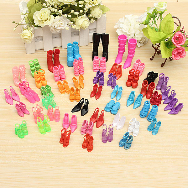 10 пар красочной обуви для кукол-отличный подарок фото №1