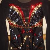 Нарядный гламурный костюм р XS/S худенькой девушке на любой праздник корпоратив торжество новогодний