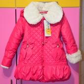 Качество! Фирменная зимняя стеганная курточка пальто Luxik, р 98-104