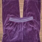 Велюровые спортивные штаны рост 134-140, на 9-10 лет.