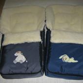 Зимний меховой конверт в коляску, в ассортименте