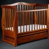 Детская кроватка диван «VIVA Luxury» орех