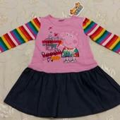 Детское платье с Свинкой Пеппой (Peppa Pig), Nova, 18-24 мес, новое