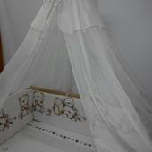Бортики (35 см) со съёмными чехлами (на молнии) на все стороны детской кровати