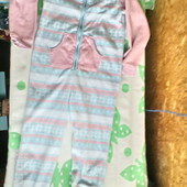 Флисовая пижама TU, ромпер для девочки 7 -8 лет ( 122-128)
