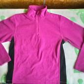 Флисовая кофта поддева рост 140 ( 11 - 12 лет) цвет фуксии