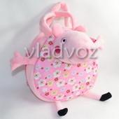 Сумка свинка пеппа для девочки мягкая игрушка розовый