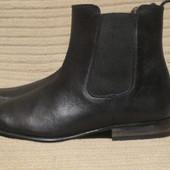 Качественные черные кожаные полусапожки - челси Burton. Англия