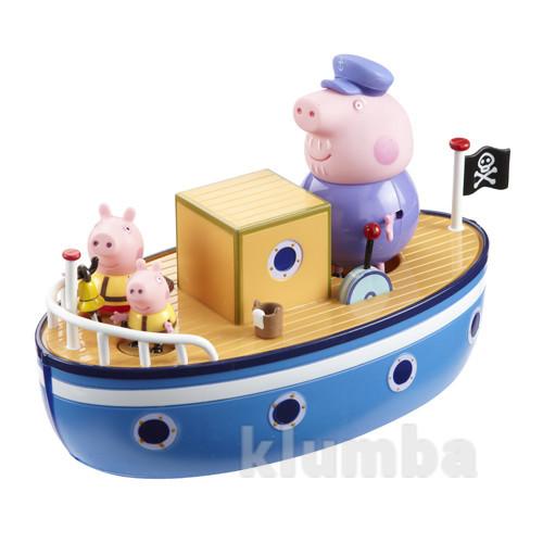 Игровой набор peppa морское приключение кораблик, 3 фигурки новый фото №1