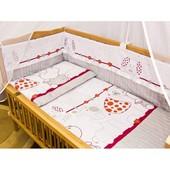 Детское постельное белье в кроватку из 7-и предметов