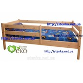 Детская кровать с бортиками (сосна) недорого