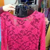 Новое платье S M гипюр