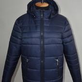 Черная и синяя Мужская зимняя куртка мужской пуховик