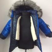 Детские теплые зимние куртки с подстежкой для мальчиков 1-2-3-4-5 лет