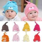 Новые детские шапочки на возраст 3-12 месяцев