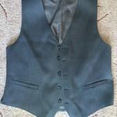 Темно-серая классическая мужская жилетка