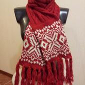 Вязаный женский шарф (новый)