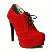Туфли -ботильоны на каблуке Натуральная кожа