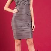 Изумительное трикотажное платье  44-48р