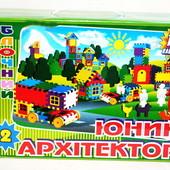 Конструктор блочный Юный Архитектор №2 100 эл.