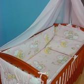 Кроватка с ящиком тёмная или светлая полный комплект с матрасом и постельным!!!