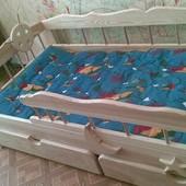 """Дубовая кровать """"Зюзюн"""" \ Бесплатная Доставка"""