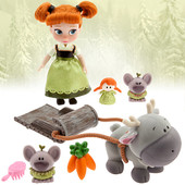 Набор Мини кукла-аниматор Анна - Disney Animators' collection Anna мini doll play set - 5''