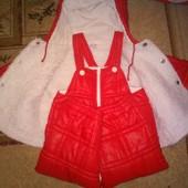 Комінезон+куртка club dei mini червоного кольору1,5-2роки