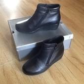 Зимние ботинки Braska 37-38р. Кожа и нат. мех. Оригинал. Супер цена