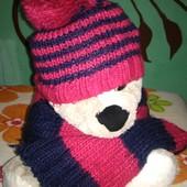 Шапка-шарф осень-весна на 4-7 лет!!!